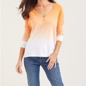Tommy Bahama Dip Dye Ombré Sweater Calypso Orange